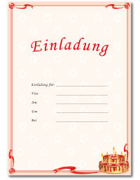 Geburtstagseinladungen Vorlagen Einladungsvorlagen