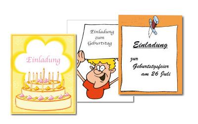 Einladungstexte, Texte und Sprüche für die Geburtstagseinladung